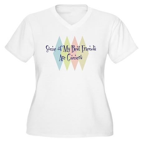 Gamers Friends Women's Plus Size V-Neck T-Shirt