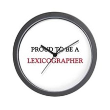 Proud to be a Lexicographer Wall Clock