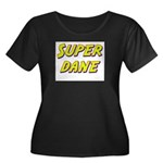 Super dane Women's Plus Size Scoop Neck Dark T-Shi