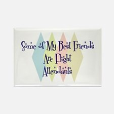 Flight Attendants Friends Rectangle Magnet