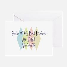 Flight Attendants Friends Greeting Card