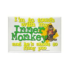 My Inner Monkey Rectangle Magnet