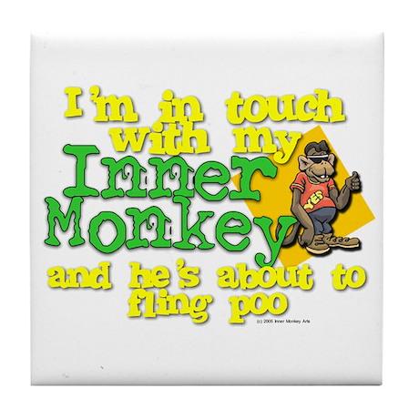 My Inner Monkey Tile Coaster