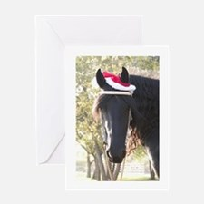Friesian Horse Christmas Card