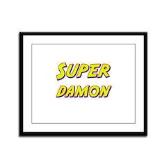 Super damon Framed Panel Print