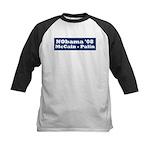 NObama - Blue & White Kids Baseball Jersey