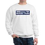 NObama - Blue & White Sweatshirt