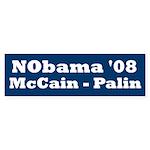 NObama - Blue & White Bumper Sticker
