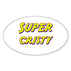 Super cristy Oval Decal