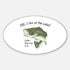 Lake Murray SC bass Oval Decal