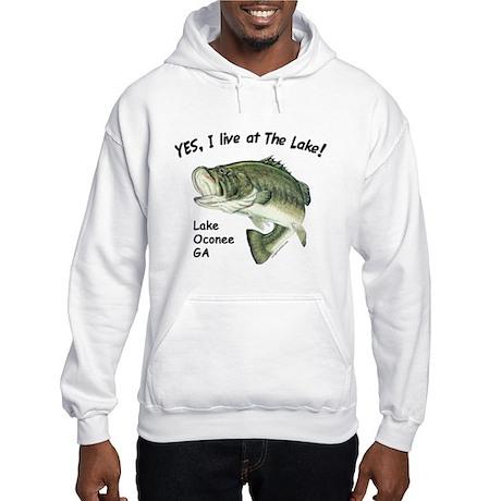 Lake Oconee GA bass Hooded Sweatshirt