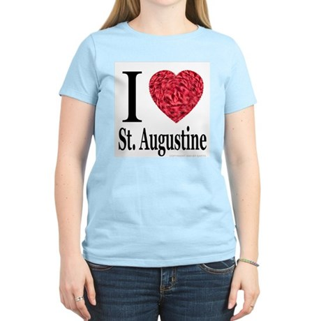 I Love St. Augustine Women's Pink T-Shirt