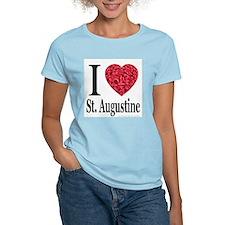 I Love St. Augustine Women's Pink T-Shirt