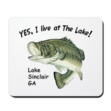 Lake Sinclair GA bass Mousepad