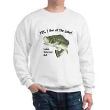 Lake Sinclair GA bass Sweatshirt