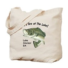 Lake Sinclair GA bass Tote Bag