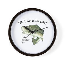 Lake Sinclair GA bass Wall Clock
