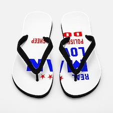 Real Man Love Polish Lowland Sheepdog Flip Flops