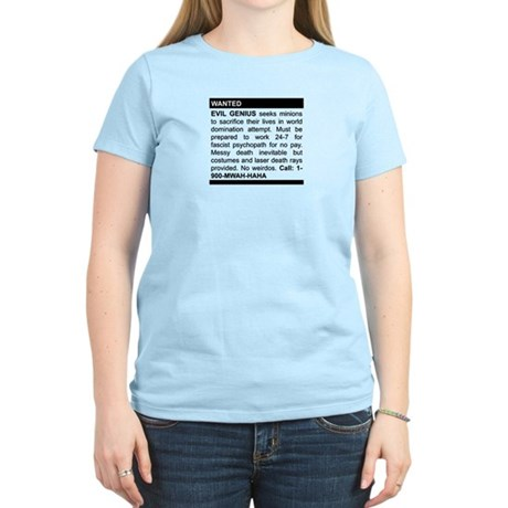 Evil Genius Personal Ad Women's Light T-Shirt