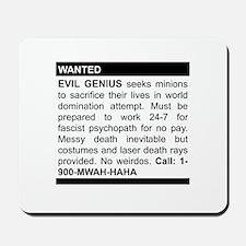 Evil Genius Personal Ad Mousepad