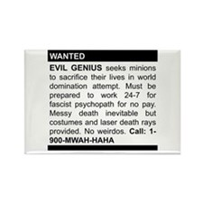 Evil Genius Personal Ad Rectangle Magnet