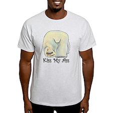 Kiss My Ass - Polar Bear Ash Grey T-Shirt