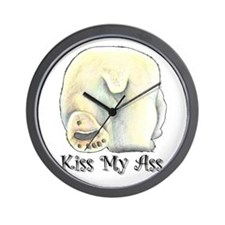 Kiss My Ass - Polar Bear Wall Clock