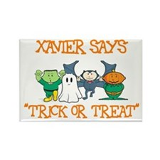 Xavier Says Trick or Treat Rectangle Magnet