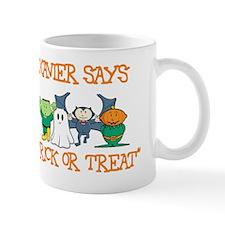 Xavier Says Trick or Treat Mug