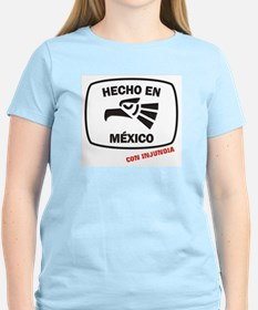 Made in Mexico Logo Women's Pink T-Shirt