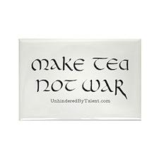 """""""Make tea not war"""" Rectangle Magnet"""