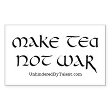 """Make tea not war"" Rectangle Decal"