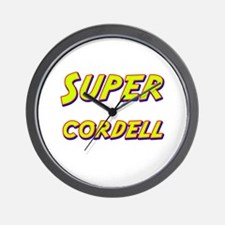 Super cordell Wall Clock