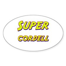 Super cordell Oval Decal