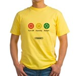 Restart Button Yellow T-Shirt