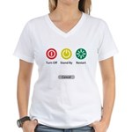 Restart Button Women's V-Neck T-Shirt