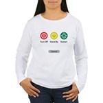 Restart Button Women's Long Sleeve T-Shirt