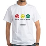 Restart Button White T-Shirt