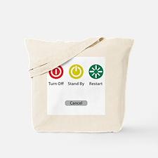 Restart Button Tote Bag