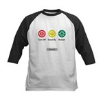 Restart Button Kids Baseball Jersey