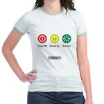 Restart Button Jr. Ringer T-Shirt