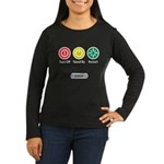 Restart Button Women's Long Sleeve Dark T-Shirt