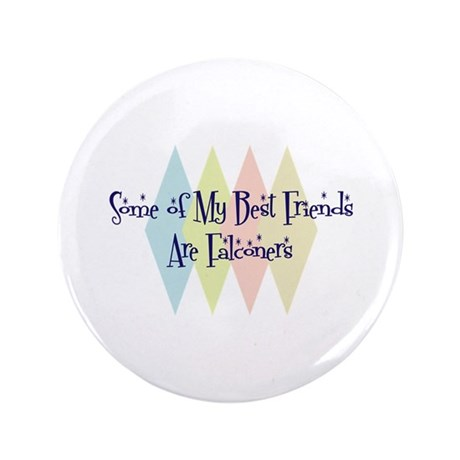 """Falconers Friends 3.5"""" Button (100 pack)"""