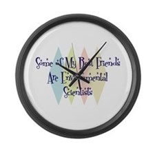 Environmental Scientists Friends Large Wall Clock