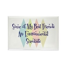 Environmental Scientists Friends Rectangle Magnet