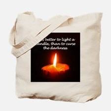 """Light a Candle"" Tote Bag"