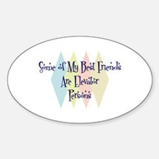 Elevator Persons Friends Oval Decal