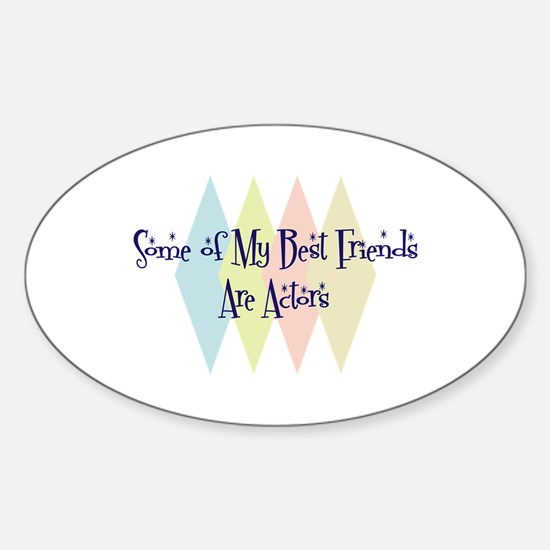 Actors Friends Oval Decal
