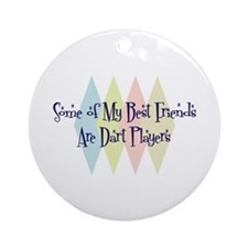 Dart Players Friends Ornament (Round)