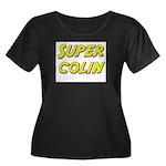 Super colin Women's Plus Size Scoop Neck Dark T-Sh